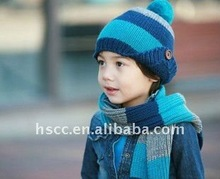 Baby cap and scarf in winter