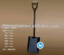 Forged shovel and spade with wooden handles