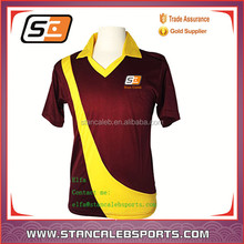 Sublimated Cricket Uniforms For Clubs latest polyester cricket jersey/uniform/cricket team jersey design