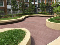 Vivid surface patterns, strong wood impression wpc flooring outdoor