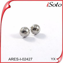 Simple earring designs for women china wholesale diamond small stud earrings