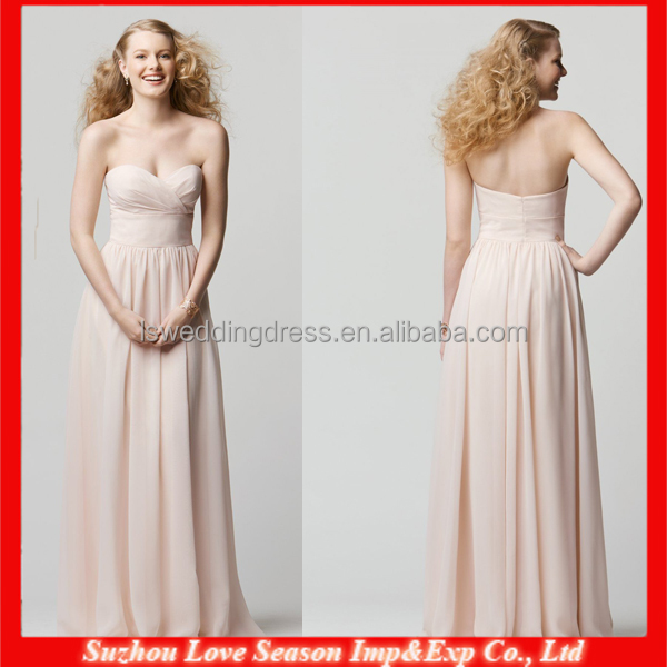 HB0156 2015 Hot Sale A-line Sweetheart neckline tight waist floor length love fairy bridesmaid dress
