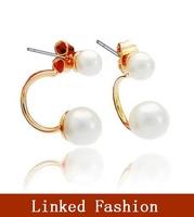 fashion design flower earring, rhinestone stud earring, pearl earring