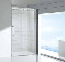 modern design frameless glass shower door