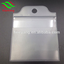 Resealable Plastic pvc Fishing Hook Header Card Bag For Serbia Market WIth Strong Glue Tape