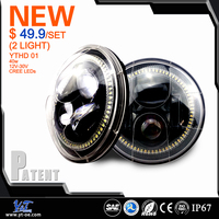 Y&T 5.75'' Motorcycle Led Headlamp for 4X4 off road 7 Inch Head Led Light for Harley Davidson