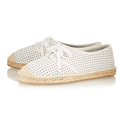 white round toe laser cut flat casual shoes women shoes