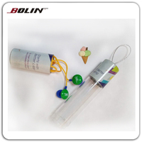 Gifts earbuds beer cap style Promotional earphones Earphones with gift PVC barrel package
