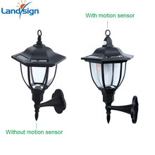 Motion Activated Security Lights Solar Powered Wall Lamp Wireless Outdoor Lantern Garden Decor Main gate light