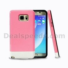 Detachable 2 in 1 PC + TPU Protective Cover for Samsung Galaxy for Note 5 Hybrid Case -Pink