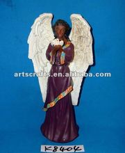Polyresin black angel figure for Christmas decoration
