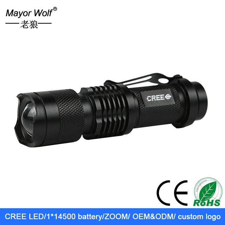 high power flashlight, 5W 200 lumen <strong>CREE</strong> q5 torch flashlight, LED flashlight manufacturer