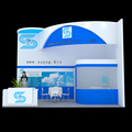 Detian offer modular wood exhibition booth design stand trade show equipment