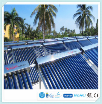 Green energy solar hot water heating collector for gym, resort, apartment (CE, CCC, ISO9001, SRCC, Solar Keymark, CSA-F378 )