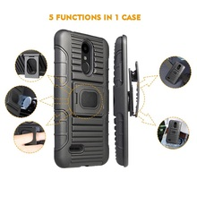 Hybrid Heavy Duty Rugged Armor Cover For LG K8 2017/ X240h Holster Combo Case