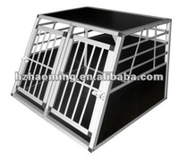 Small double door Alu dog cage