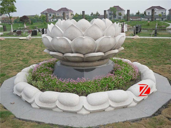 lotus outdoor large stone flower fountain