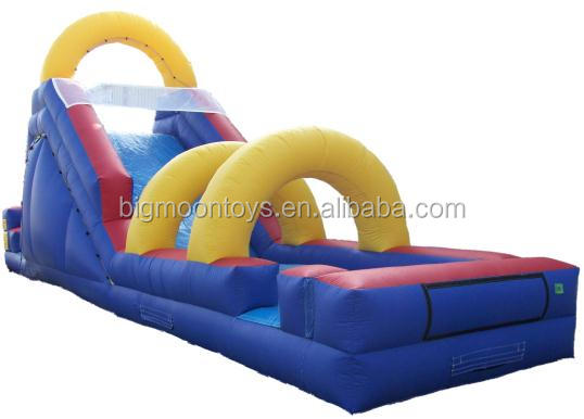 inflatable water slip slide, inflatable double lanes water slide, 2 slip lanes water slide