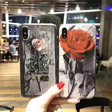 Retro Roses Silicone Gel TPU Case Ultra Slim Soft Rubber Shockproof Cover Skin Case for iphone X CA5785