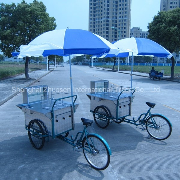Mobile Street Tricycle Food Vending Tricycle Cart Kiosk with Tricycle for Sale ZS-HT110 B