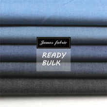 100% Cotton Solid Color Yarn Dyed Denim Look Twill Shirting Fabric