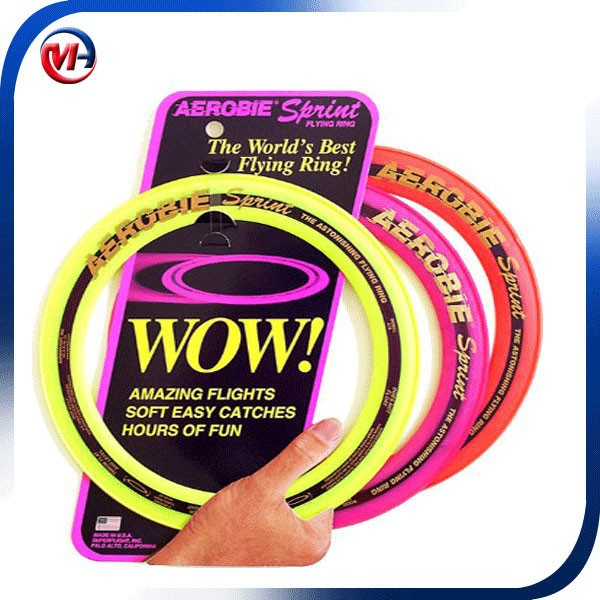 Wholesale promotional novelty fiying ring frisbee/hollow frisbee/dog toys
