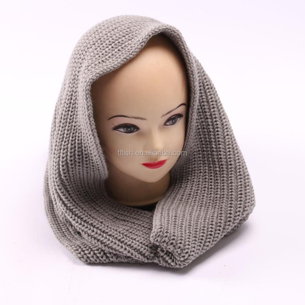 New style jacquard knitted wool and acrylic scarf snood neck warmer