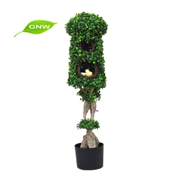 GNW BX1043 Chinese Market Wholesale Green Man-made Plants Decorated With Family And Wedding Parties