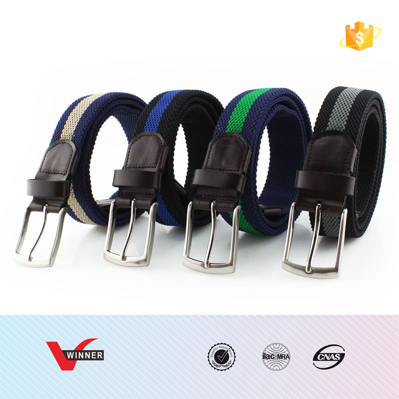 Men's elastic Woven Stretch Belt