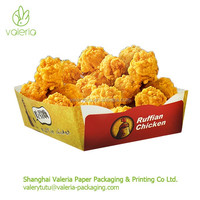 Eco Friendly Disposable Custom Fried Chicken Wing Packaging Boxes