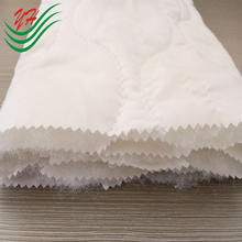 waterproof polyester pongee quilting seam polyester wadding quilted down filled mattress protector fabric laminated with TPU