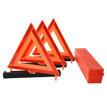 3 Packed High Reflective Emergency Roadside Early Red Warning Triangle for Roadside <strong>Safety</strong>