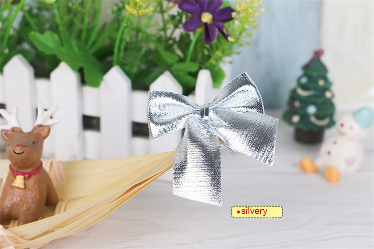 Merry Christmas Tree Decoration Bowknot Brooch Ornaments