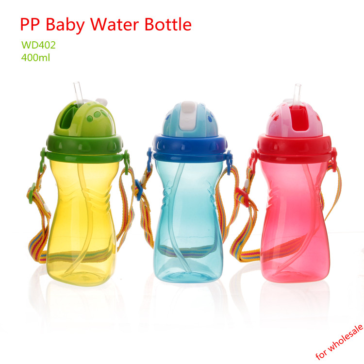 Practical Sippy Cup Type PP Baby Water Bottle For Wholesale
