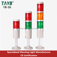 50 round type tower LED alarm light green led warning strobe light