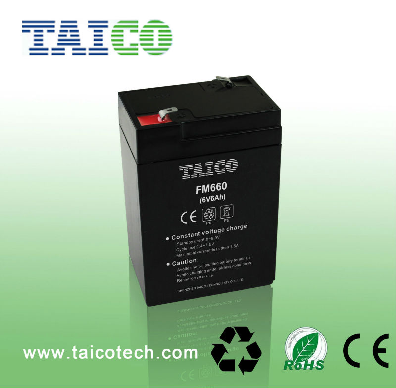 6v 6Ah battery sealed rechargeable for electronic tools