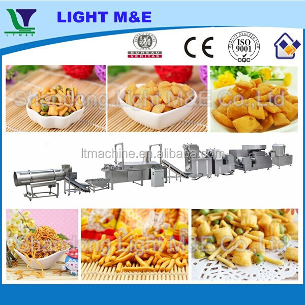 Complete Fried Wheat Flour Pillow Snack Stick Making Machine