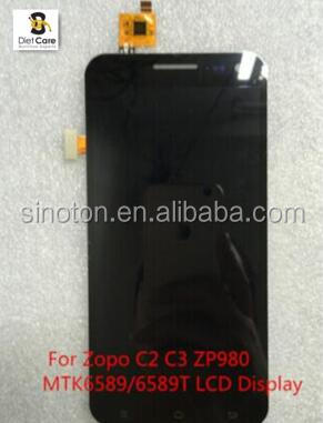 "lack New Original 5"" Inch For Zopo C2 C3 ZP980 MTK6589/6589T Full LCD Display+Touch Screen"