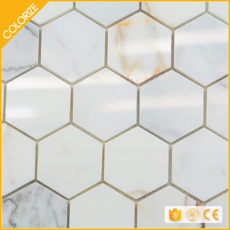 Hot Sale Good Quality Green Hexagon Tile