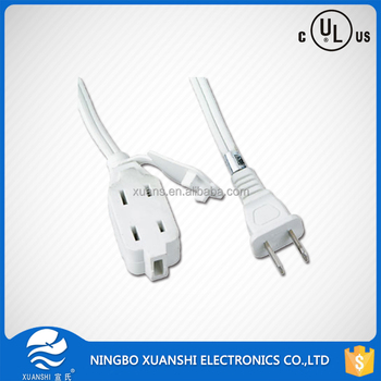 us ac power cord flat electrical power extension cord