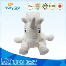 promotional plush white unicorn monster plush stuffed toy