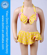 New arrival big bowknot at top center sexy kids bikini pictures,open hot sexy girl photo,swimsuit kids