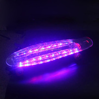 Plastic Skateboard LED Light Up Wheels Playshion 22 Inch Mini Street Cruiser