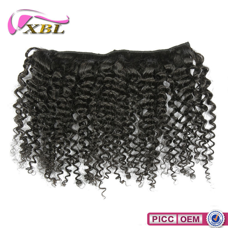7 Pieces Brazilian Human Hair Extensions Virgin Natural Color Curly Hair Extensions Clip In