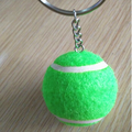 wholesale custom green tennis ball keychain logo printing