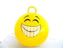 45cm PVC kids bounce emoji space hopper ball bouncy ball with handle