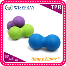 Wholesale rubber exercise peanut massage ball back massager