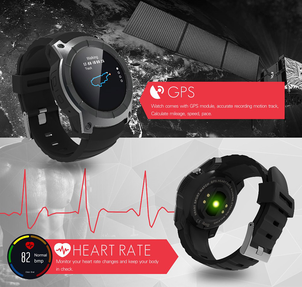 Makibes G05 MTK2503A Smart Watch Support 32GB TF card GPS BT SMS Reminder siri Multi-mode Sports Monitoring Wrist watch