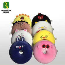 Cute animal plush donuts seat cushion soft round stuffed home decorations pillow