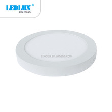 high quality 6w 12w 18w 24w surface led panel light with round shape